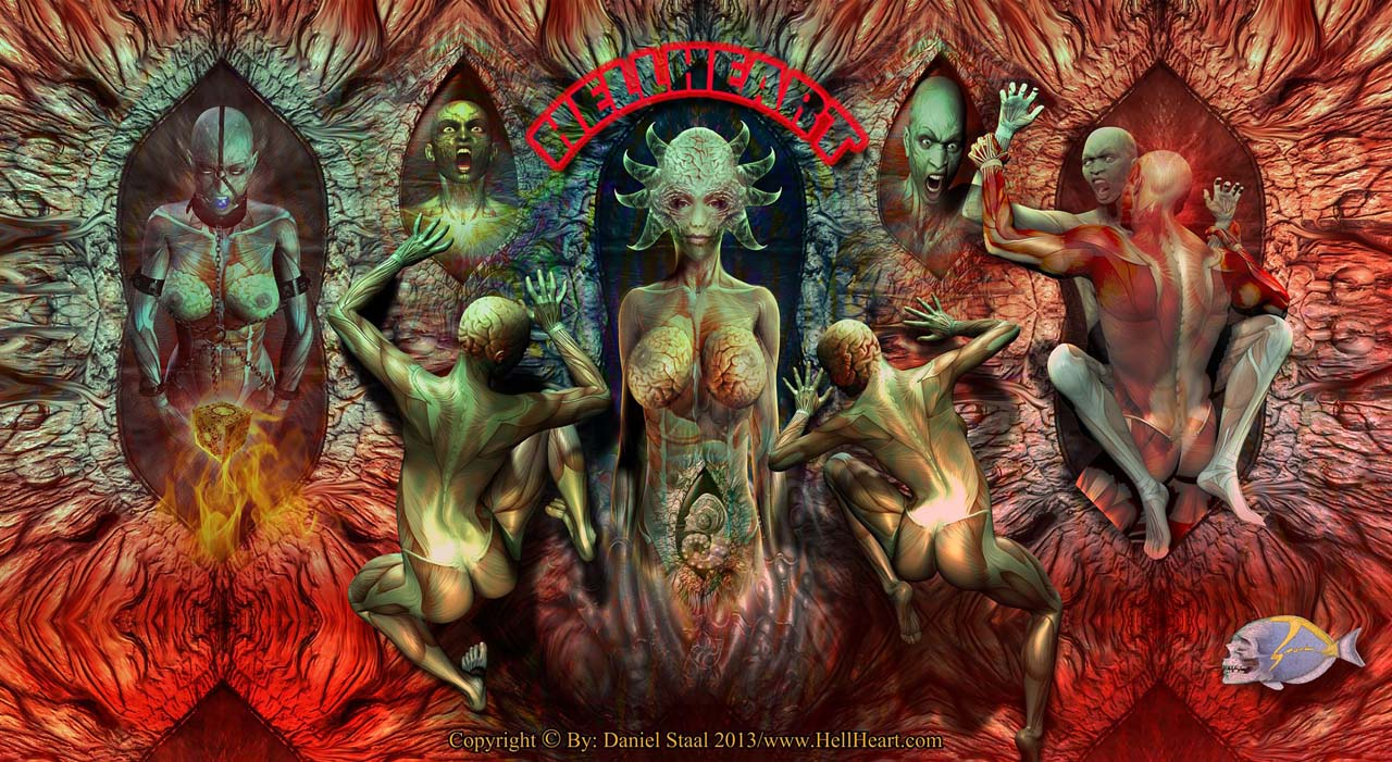 Idols of the New Flesh, By: Hellheart Horror Hell Art Artist Staal